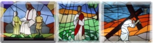 3 stained glass windows